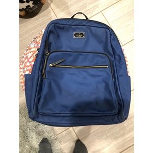 kate spade Bags - Kate Spade Blue nylon backpack with laptop sleeve